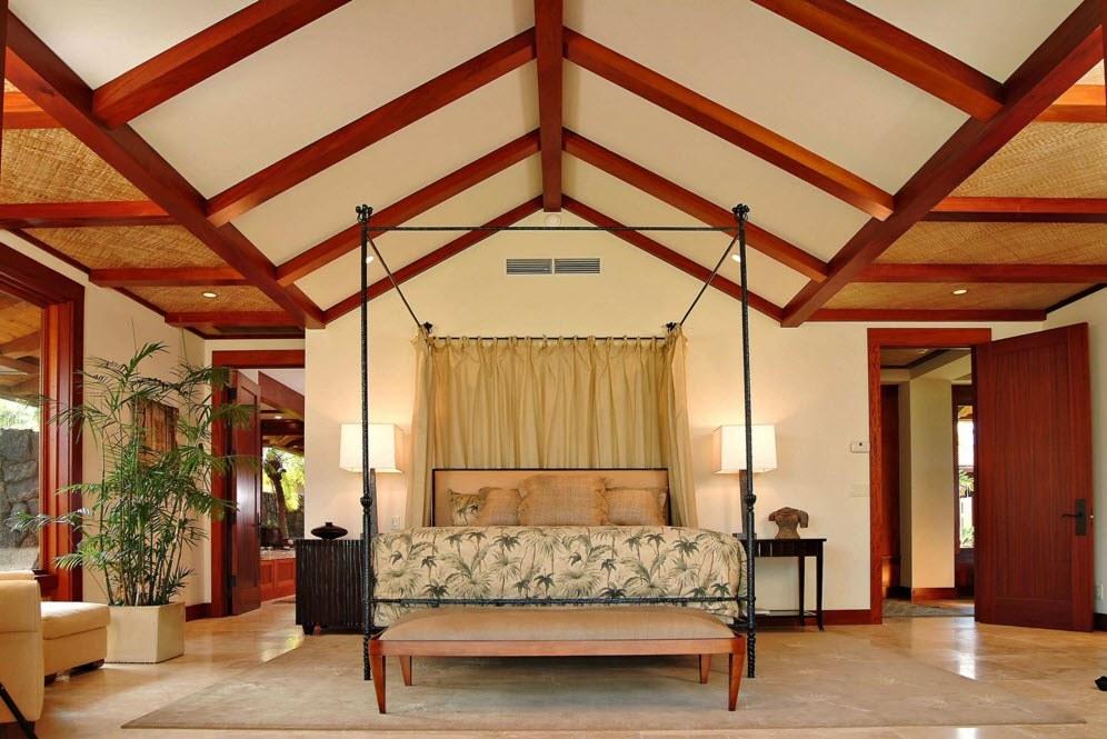 Декоративные балки в интерьере - тропический