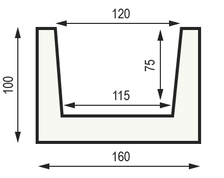 "Сечение балки ""Модерн М16"" 100 x 160 мм"
