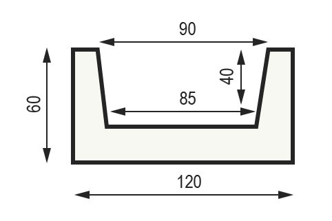 "Сечение балки ""Модерн М12"" 60 x 120 мм"