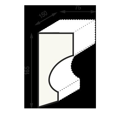 Сечение консоли КCC2 (165 x 75 x 150 мм)